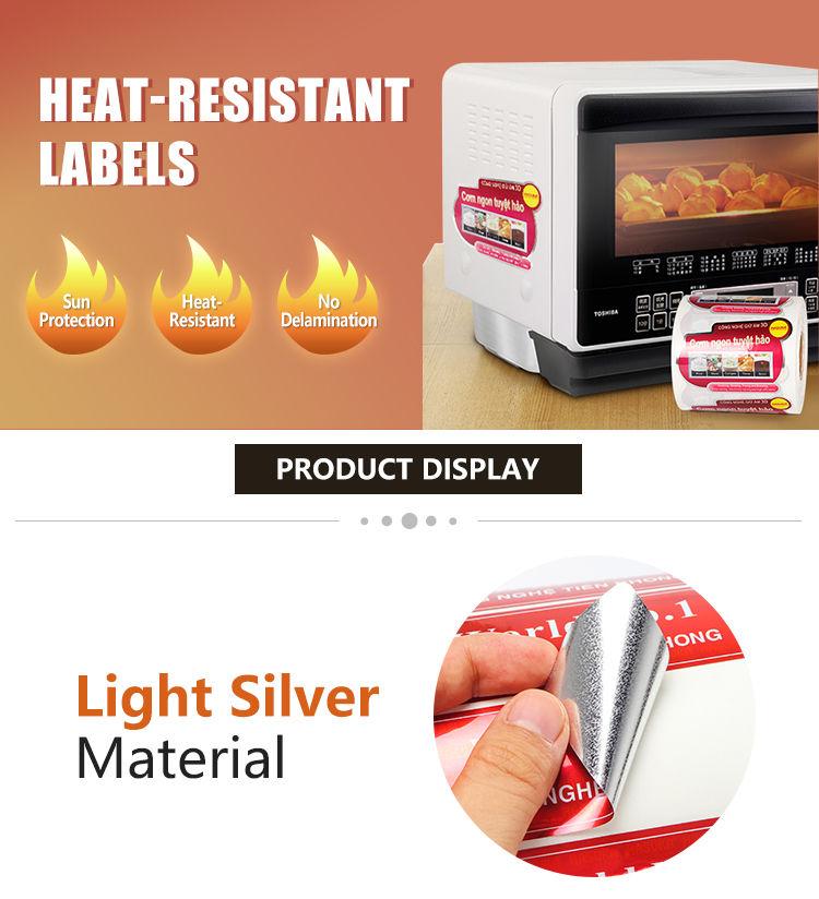 Ngjitësa me fletë argjendi të personalizuara të printimit
